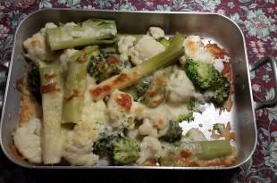 ovnbagte grøntsager med ost