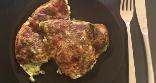 omelet med pølser