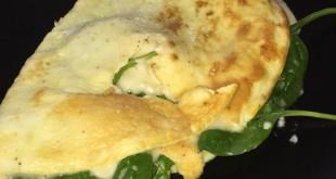 Spinatomelet med ost og kostfibre