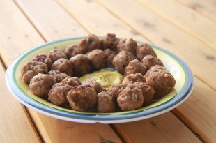 Spicy meatballs i ovnen