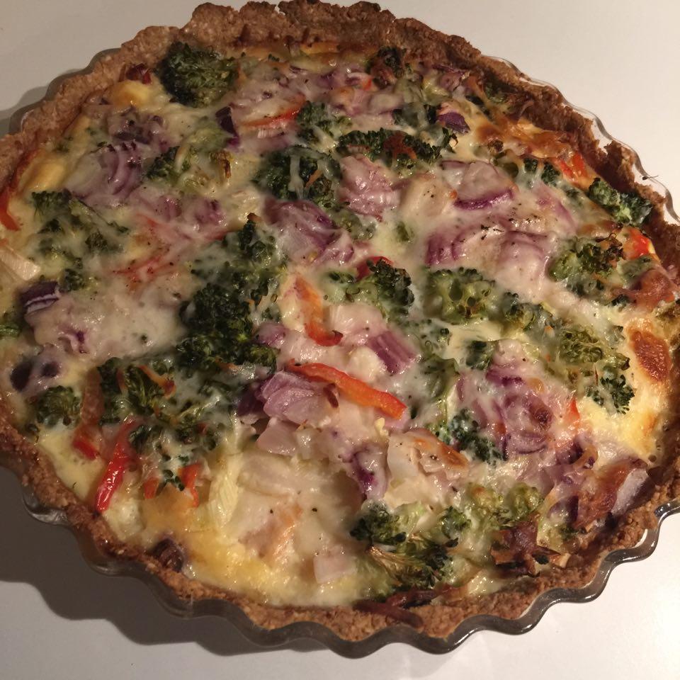 Lchf Tærte Med Laks Broccoli Og Porre Nem Lchf